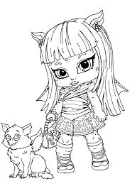 New Monster High Baby Coloring Pages 77 In For Kids Online With
