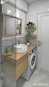 studio sea view royan das badezimmer mit waschmaschine unter