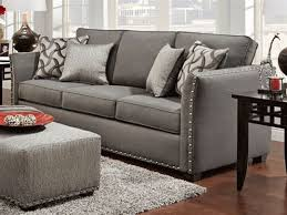 Nolana Charcoal Sofa Set by Gray Sofa With Nailhead Trim Sofas