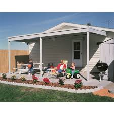 Arrow Galvanized Steel Storage Shed by Arrow Attached Patio Cover Carport U2014 10ft X 20ft Model Pc1020