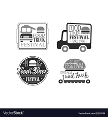 100 Truck Emblems Set Of 4 Creative Emblems For Food Truck Vector Image