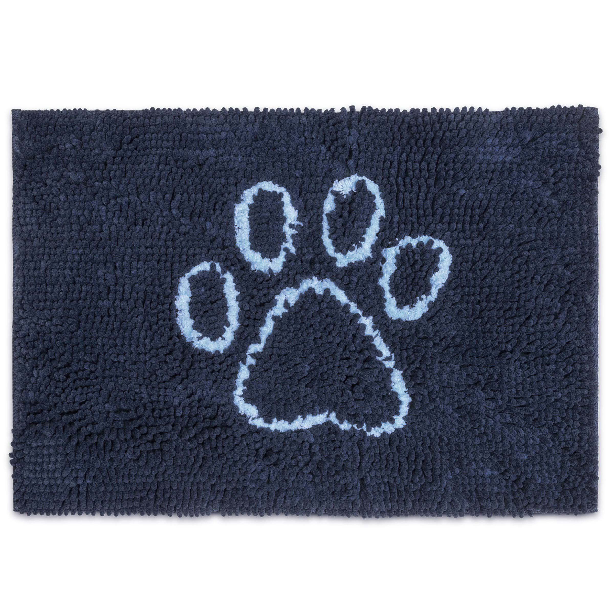 Dirty Dog Doormat - Bermuda Blue with Light Blue, Large