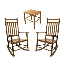Penrose Wood Rocking Chair & Table Set No. 67S/1618 3pc Set - Dixie Seating