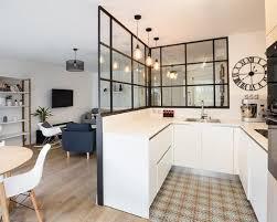 cuisine exemple exemple de cuisine ouverte 2 cuisine scandinave carreaux de