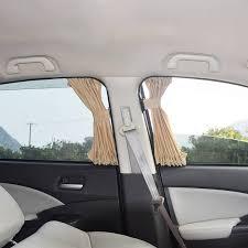 2 pcs ensemble rideaux avec élastique cordon auto fenêtre de
