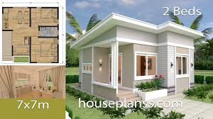 100 Housedesign Small House Design Plans 7x7 With 2 Bedrooms House Plans Sam