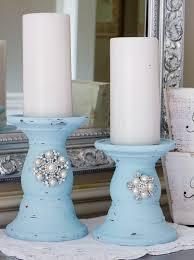 French Country Decor Faux Painting Event Shabby Chic Diy Candlesticks