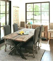 Rustic Farmhouse Dining Table Nycgratitudeorg Furniture Room Tables Style Modern