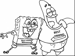 Astonishing Spongebob Best Friend Coloring Pages With And Care Bear