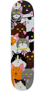 cats on deck raemers cat collage skateboard deck 8 0