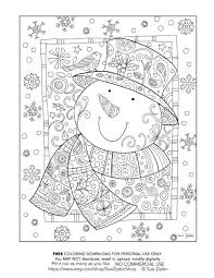 Sue Zipkin Snowman Coloring Page Sample Download For Personal Use Purchase More Pages