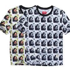 2014 New Fashion Style Superme Virgin Mary Body Printing Man Woman Cotton T Shirt O Neck Short
