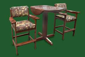 antique billiard supply spectator chairs and table mahogany