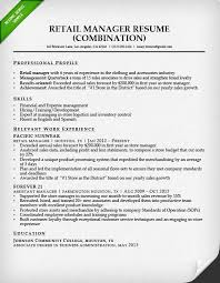 Sales Associate Chronological Retail Manager Combination Resume Sample