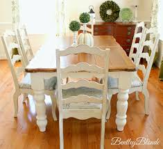 BentleyBlonde: DIY Farmhouse Table & Dining Set Makeover With Annie ... Teton Hand Planed Trestle Ding Set Amish Oak Farmhouse Table And Chairs Painted In Annie Sloan Old White Paint White Chair Cushions Room Ideas Painted Room Chairs A Pumpkin Centerpiece Wooden Centre Of Country Style Amazoncom Poundex F2210 F1276 Glass Leatherette 53 Tables Table Laura Ashley Duck Egg Blue Top Needs Boulez With 6 7 Piece Oval Chalk Pure Traditional Regency Style 8 Eclectic For Cohesive Look Hgtv