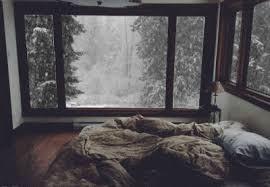 bed snow cozy warm pillows animated gif popkey
