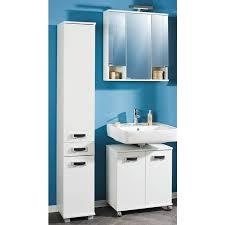 badezimmer hochschrank caen 04 mit 2 türen und schubkasten perl weiß b x h x t ca 30 3 x 184 1 x 32 6cm