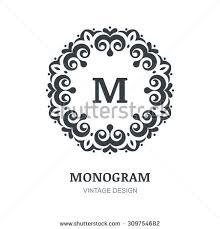 Abstract Vintage Vector Logo Elegant Monogram Design Template Decorative Frame Background Concept For