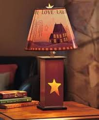 Punched Tin Lamp Shades Uk by Primitive Lamps Country Lamps Punched Tin Lamp Shades Rusty Star