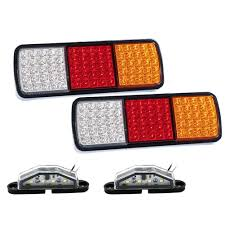 New Universal 1Pair 75 LED Tail Lights Truck Boat Stop Indicator 12V ... 2x Led Rear Tail Lights Truck Trailer Camper Caravan Bus Lorry Van 0708 Dodge Ram Pickup Euro Red Clear 111 Round And W Builtin Reflector 4 Inch Led Whosale 2018 8 Car Light Warning Rear Lamps Waterproof Amazonca Trucklite 44022r Super 44 Stopturntail Kit 42 2 Pcs With License Plate Lamp Durable Lights Ucktrailer Circular Stoptail Lamp 1030v 1 Pair 12v Turn Signal 20fordf150taillight The Fast Lane