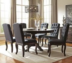 Wayfair Kitchen Table Sets by Paige 7 Piece Dining Room Set In Dark Brown 2325 Kitchen Table
