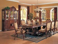 7 Piece Brown Cherry Wood Dining Room Table 6 Chairs By Kings Brand Furniture