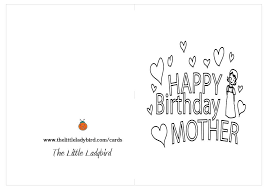 Happy Birthday Mother Coloring Page