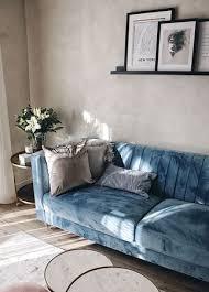 3 sitzer sofa samtstoff hellblau arvika beliani fr