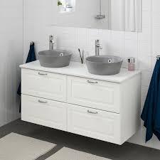 godmorgon tolken kattevik kommod m tvttställ 40 f bänkskiva kasjön vit marmormönstrad voxnan kran 122x49x75 cm