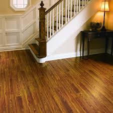 Installing Pergo Laminate Flooring On Stairs by Pergo Presto Gunstock Oak 8 Mm Thick X 7 5 8 In Wide X 47 5 8 In