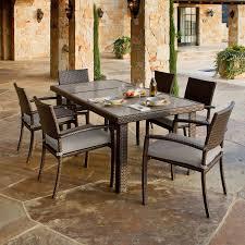 Portofino Patio Furniture Canada by Portofino 7 Piece Dining Set In Espresso Taupe