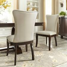 Willa Beige Fabric Wingback Dining Chairs With Nailhead Trim (Set Of 2) By  INSPIRE Q Classic Harlow Velvet Wingback Ding Chair With Nailheads Set Of 2 Iconic Home Shira Faux Linen Belgravia Wing Back Rattan With Cushion Wingback Ding Chairs Genevaolszewskico Host 300350126 Sofas And Sectionals Amazoncom Upholstered Chairs Mid Century Nailhead For Best Fniture Fnitures Fill Your Room Pretty Parsons Cheap Decor Gallery