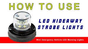 100 Emergency Strobe Lights For Trucks LED Hideaway Mini Vehicle LED Warning
