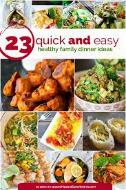 Easy Quick Dinner Recipes For Family 14 With 23 And Healthy Ideas