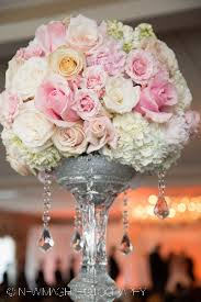 Pale Pink Roses White And Hydrangea Atop