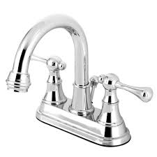 Moen Kingsley Lavatory Faucet by Moen Kingsley 4 In Centerset 2 Handle High Arc Bathroom Faucet In