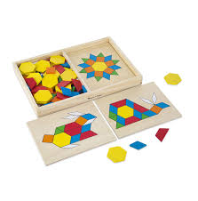 Melissa And Doug Floor Puzzles Target by Amazon Com Melissa U0026 Doug Pattern Blocks And Boards Classic Toy