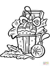 Click The Christmas Ornaments Coloring Pages