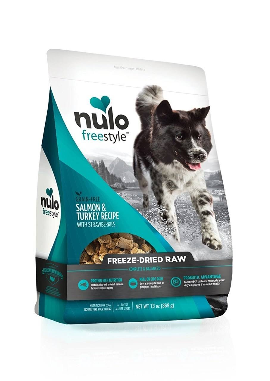 Nulo 13 oz Salmon & Turkey with Strawberries Freeze Dried Raw Dog Food