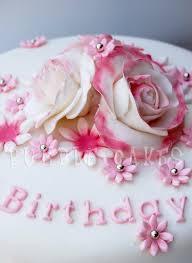 Pink Rose Birthday Cake by MrsBumble Pink Rose Birthday Cake by MrsBumble