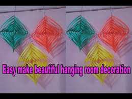 How To Make Beautiful Hanging Room Decoration With Colour Paper