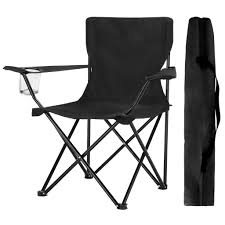 Finether Compact Portable Aluminum Folding Camping Chair Arm Chair With  Mesh Cup Holder And Carry Bag For Outdoor Camping Fishing Picnic Barbeque  ...