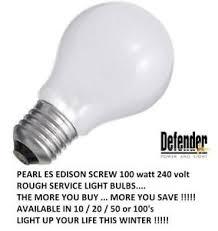 defender pearl light bulb 100w es edison 240v serivce