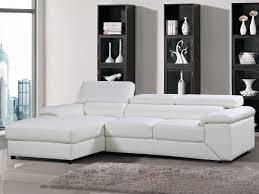 canape cuir angle gauche canapé d angle cuir reconstitué pvc 4 places blanc
