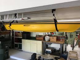 Garage Ceiling Kayak Hoist by Kayak And Canoe Hoist Boat Storage Rack Storeyourboard Com