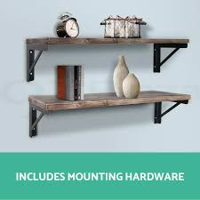 Rustic Industrial DIY Pipe Shelf Storage Vintage Wooden
