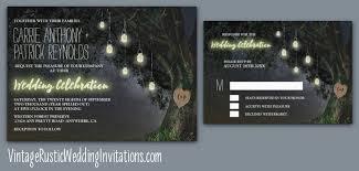 Rustic Mason Jar Carved Initials Grandfather Oak Tree Wedding Invitations
