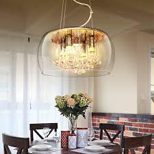 luxus glas schatten kristall pendelleuchte esszimmer pendelleuchte mit led len 110 v 220 v dekoration licht free verschiffen
