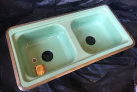 Refinish Youngstown Kitchen Sink by New Old Stock Pink Jadeite And Turquoise Kitchen Sinks And More
