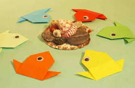 Easy Paper Crafts For Preschoolers Craft Kids Origami Fish On Christmas